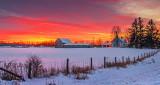 Winter Farmscape At Sunrise P1180093-9