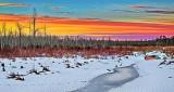 Winter Barbers Creek At Sunrise P1180210-2