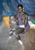 Surma woman with baby;  south-western Ethiopia.