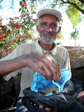 Traditional healer in Lalibela. Ethiopia.