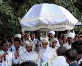 An Amharic orthodox Christian wedding in Gondar.  Ethiopia.