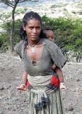 Amharic woman near Lalibela. Ethiopia.