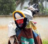 « Festival des 18 Montagnes de Man », Côte d'Ivoire. Wobé mask.