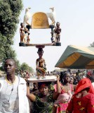 Korhogo. Ceremonial chair, later carried behind the initiate during  Poro ceremony