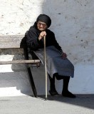 Old lady in Crete, Greece