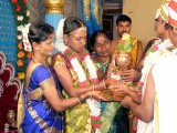 Now the bride has come to join the wedding ceremony; Karnataka, India
