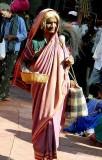 Devadasi at Yellamma temple, Saundatti, Karnataka, India