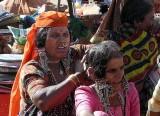 Banjara women outside Yellamma temple, Saundatti, Karnataka, India