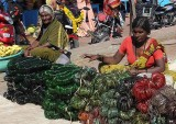 Bangles for goddess Yellamma who loves green. Yellamma temple at Saundatti, Karnataka, India