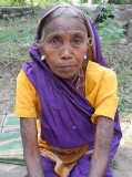 Baiga lady with typical tattoos