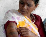 Baiga lady with tattoos