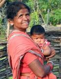 Baiga grandmother with child