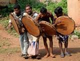Juang musicians in Baitarani
