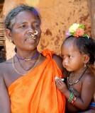 Paraja lady with baby girl