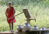 Paraja lady at a well