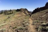 Hiking to the top of Alpine Meadows Ski Resort