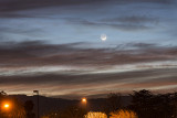 The Young Moon Setting