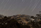 Star Trails over Mount Hamilton/Lick Observatory