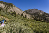 Hiking to the top of Mount Rose