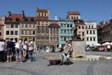 Place centrale de Varsovie et sa célèbre Sirenka