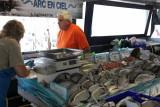 Bel étal de poissons
