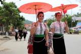 Jeunes filles Thaïs blancs