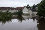 Jardin particulier inondé
