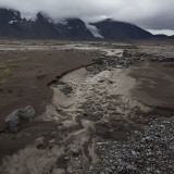 Dry creek of Fúlakvisl, with Hrútafell