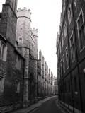 Empty street on sunday morning
