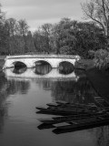 River Cam, bridge and punting boats