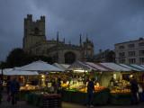 Market at dusk