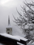 Churchtower in the clouds