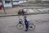 boy in small village in Onchon County South Pyongan Province. not sure what kind of planting in background dpinkston?