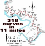 Tail of the Dragon Ride ( September  28-29 )