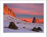 *Winter Dawn at Shiprock*