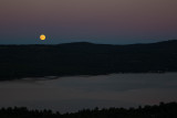 Moon Rise Over Newfound Lake, NH, 9/27/2015
