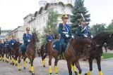 Kremlin calvary guards.克里姆林宫骑兵