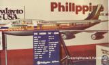 PAL B-747-200 cut-out model