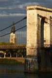 Avignon to Lyon, by the river Rhone, France