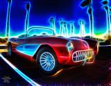 Abstract '57 Corvette