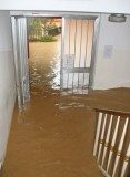 Flooded home after storm