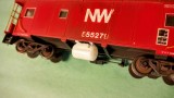 N&W propane tank for cabooses installed