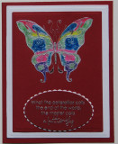 Butterfly card in darker colors