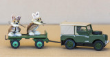 MICE HITCHING A RIDE ON A SERIES 1 LANDROVER