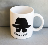 A SPECIAL MUG, SPECIALLY COMMISSIONED TO COMMEMORATE A SPECIAL OCCASION.