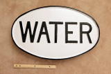 Water 1 Mile Sign
