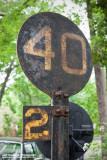 N&W Speed Limit Sign