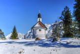 Chapel at the Frozen Lake
