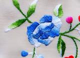 Close up of handkerchief