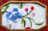 Chinese handkerchief in its presentation folder